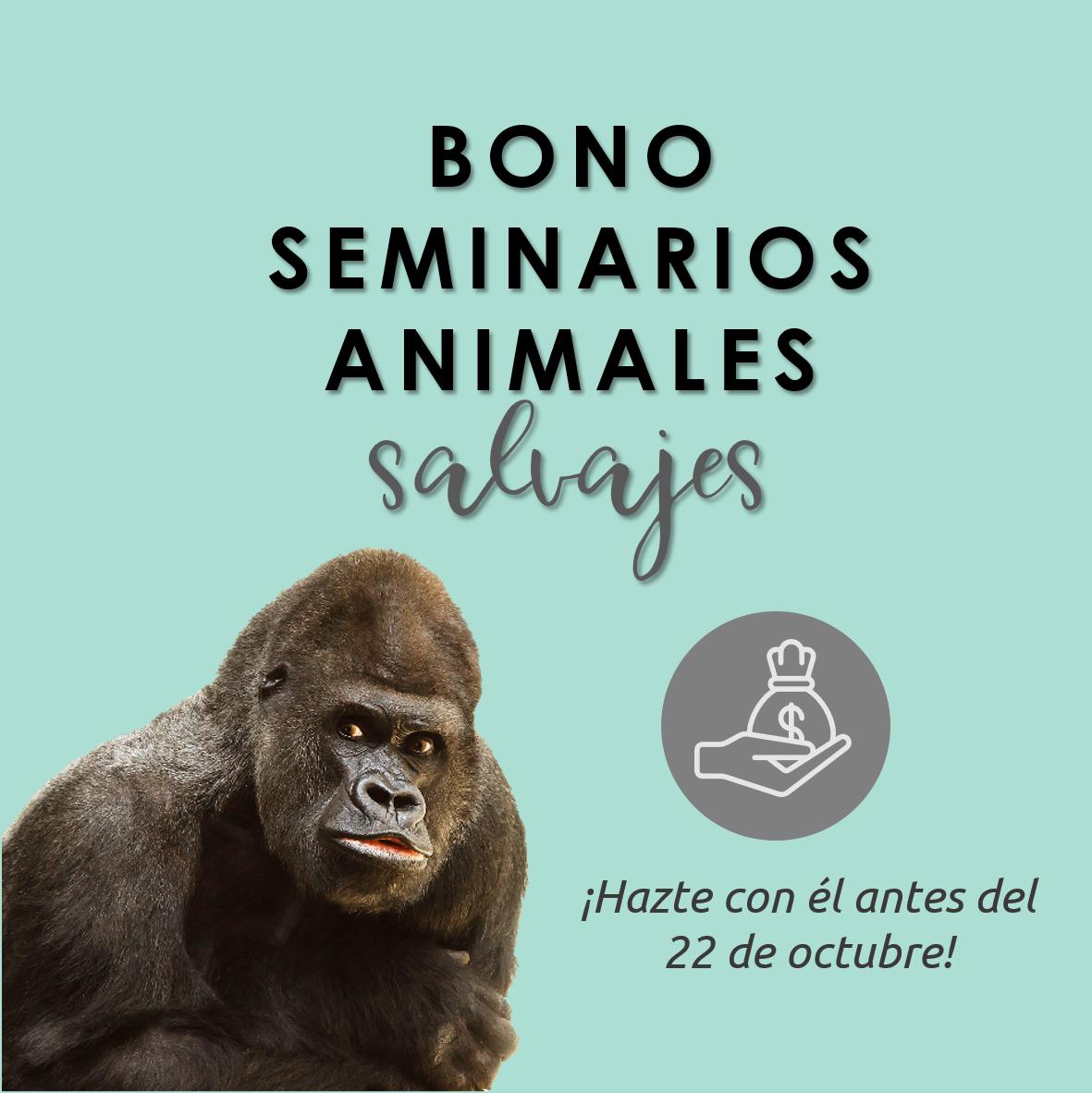 Lee más sobre el artículo Bono seminarios animales salvajes